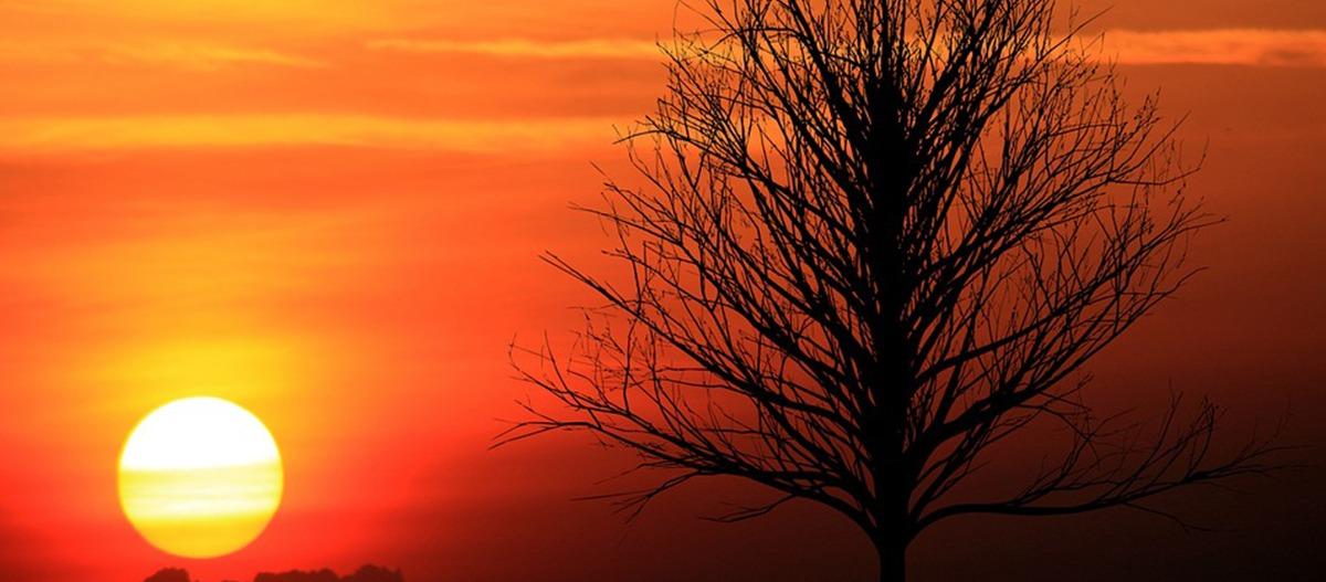 Queimadas e clima seco mudam a cor do céu